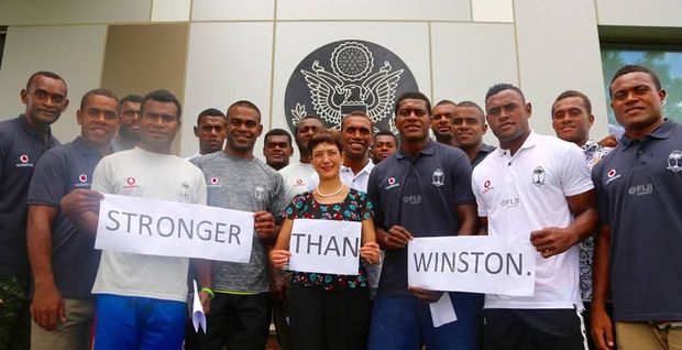 The US Ambassador in Suva, Judith Cefkin, wishes the Fiji sevens team luck ahead of the Las Vegas tournament.