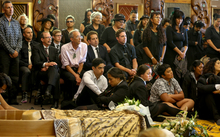 Friends and family surround the casket of Dr Ranginui Walker.