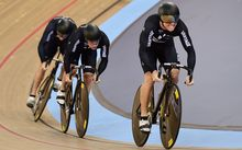 The New Zealand sprint team of Eddie Dawkins, Sam Webster and Ethan Mitchell has won gold at the World Track Cycling Champs in London.