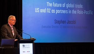 The Executive Director of the NZ International Business Forum, Stephen Jacobi