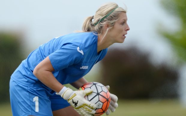 Football ferns keeper Erin Nayler.