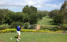 The 10th hole during the 2014 PNG Open at the Royal Port Moresby Golf Club.