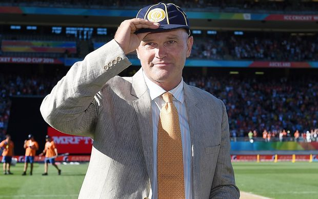 Martin Crowe is inducted into the ICC Hall of Fame during the ICC Cricket World Cup match between New Zealand and Australia at Eden Park in Auckland, New Zealand. February 2015.