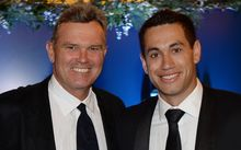 Martin Crowe and Ross Taylor pose for a picture at the 2013/14 New Zealand Cricket Annual Awards dinner.