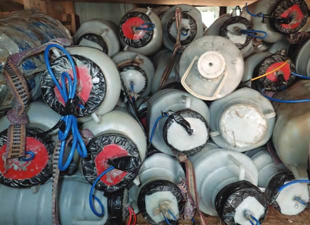 IEDs captured from Islamic State