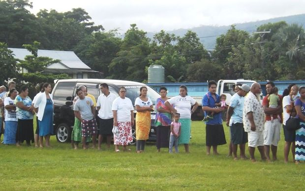 Voters line up to have their say in Samoa's 2016 general election.