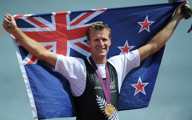 Mahe Drysdale wins the single scull at the London Olympics.