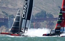 Oracle and Team NZ in action at the 2013 America's Cup