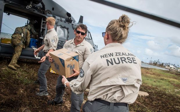The New Zealand Defence Force's NH90 helicopters marked their first overseas mission by delivering essential aid supplies to Nasau village in Koro, a cyclone-ravaged island about 106 km north of the Fijian capital of Suva.