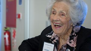 Evelyn Hutchins was in the Women's Auxiliary Air Force for four years from 1942.