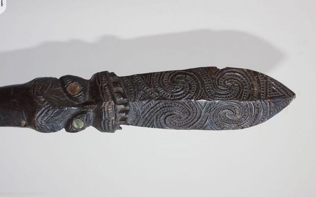 The taiaha, which the seller claims was once owned by the second Māori King Tāwhiao, is being auctioned on Trade Me.