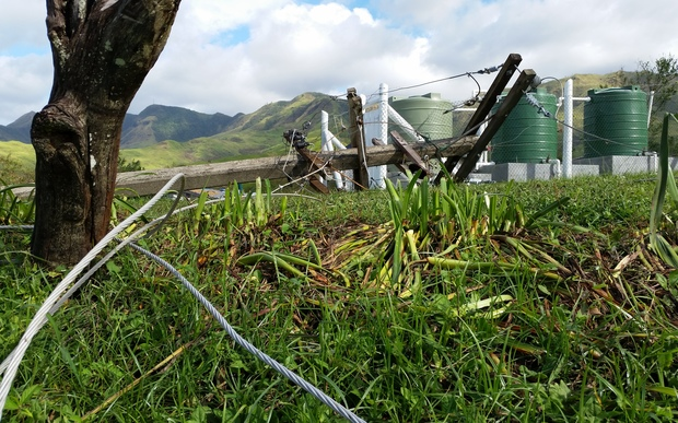 Fallen power poles a common sight in all of Fiji post-Cyclone Winston