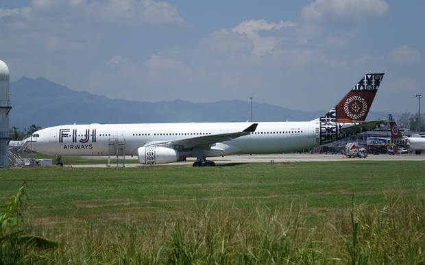 Fiji Airways plane at Nadi International Airport