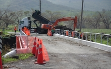 Bridge works on the Kings Rd near Tavua Fiji
