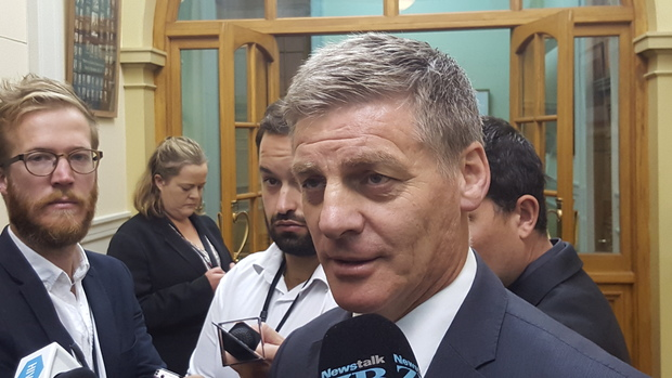 Finance Minister Bill English answers questions about the payroll issues on 8 March 2016 at Parliament.