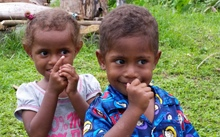 Children on the Fiji island of Taveuni