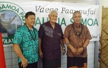Tautua Samoa party's three MPs. From left Ili Setefano, former deputy leader A'eau Peniamina and Olo Fiti Afoa Vaai