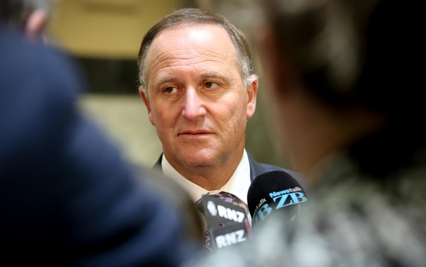 John Key during bridge run over the GCSB.