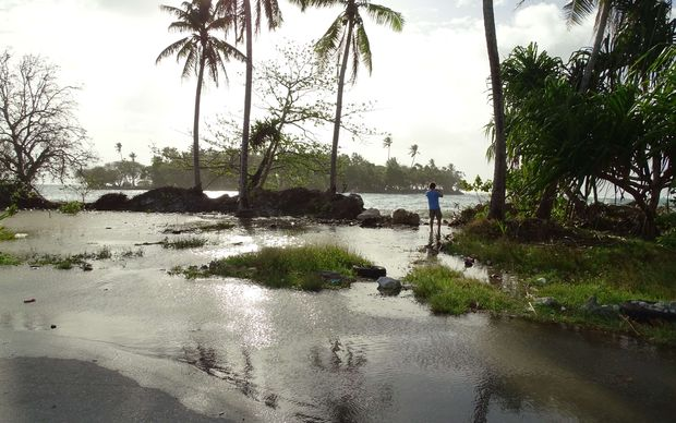 A king tide pushed by storm surges caused some inundation in Majuro Atoll, with water washing onto the roads and flooding homes in some areas of the capital atoll.
