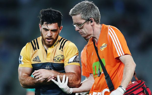 The win over the Blues may have come at a cost for the Hurricanes with All Black winger Nehe Milner-Skudder forced off the field with an injury.