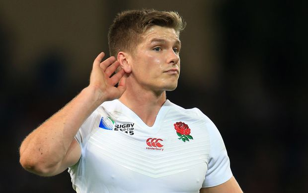 The England first-five Owen Farrell.