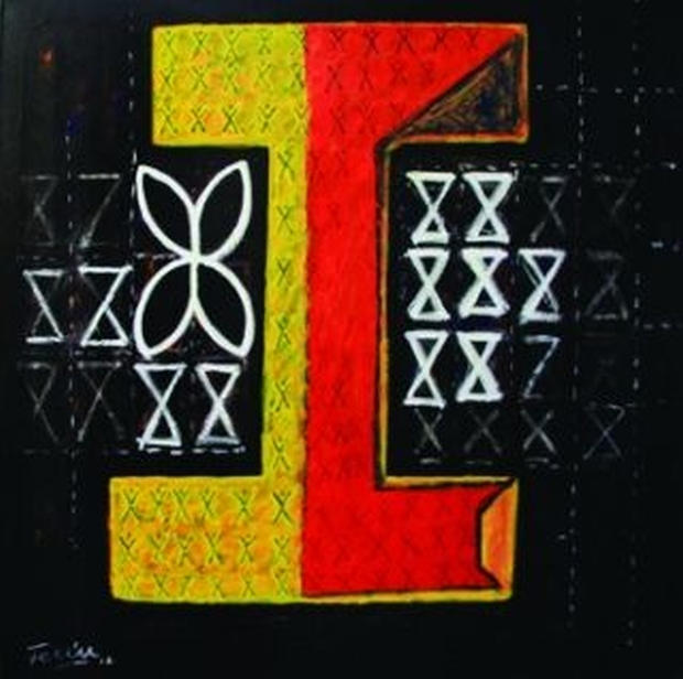 A painting by artist Fatu Feu'u. The work is called Otautahi Fono.