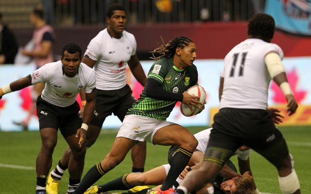 Fiji were beaten by South Africa in the Cup semi finals in Vancouver.
