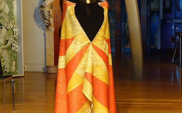 Digital replica of the Hawaiian cloak gifted to Captain Cook in 1779.