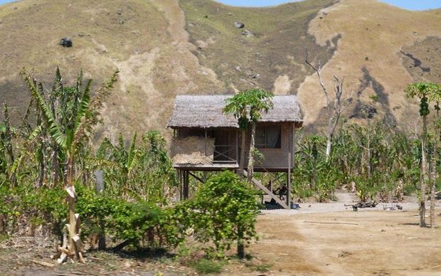 Dry landscape, Wararais, Markham Valley, Papua New Guinea.