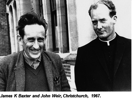 James K Baxter and John Weir, Christchurch, 1967