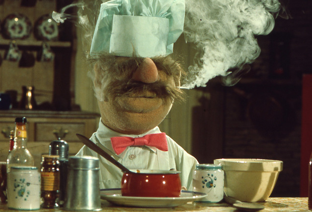 The incomprehensible and most likely inedible Swedish Chef performed by Jim Henson (1975-1990) & Bill Barretta (1996-present)