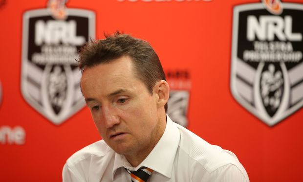 Wests Tigers coach Jason Taylor.
