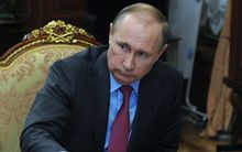 Russian President Vladimir Putin during a meeting in the Kremlin.