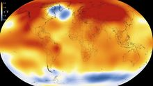 A data visualisation from NASA from January 2016 shows that 2015 was the warmest year since modern record-keeping began in 1880.