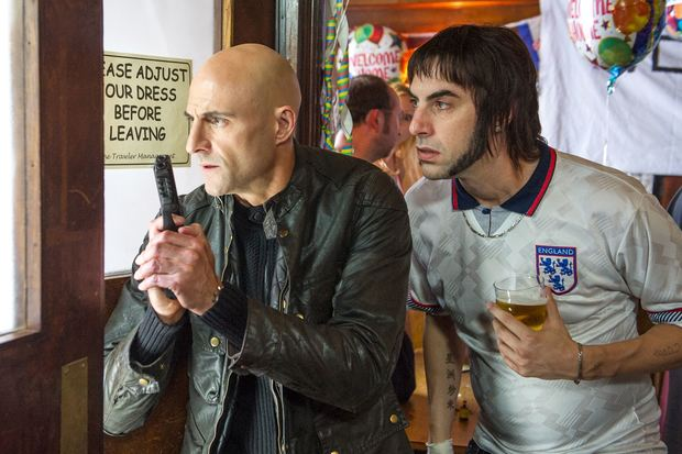 Mark Strong and Sacha Baron Cohen are a secret agent and his working class brother in Grimsby
