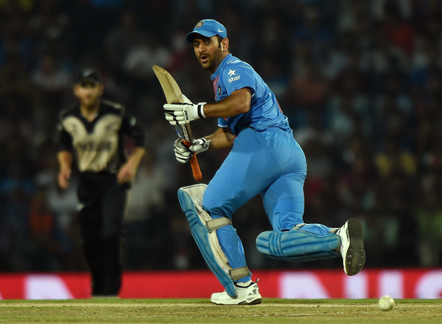 India's former captain MS Dhoni was dismissed for 30 in the World Twenty20 opener Nagpur on 16 March 2016.