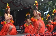 The Cook Island Stage at Pasifika 2016