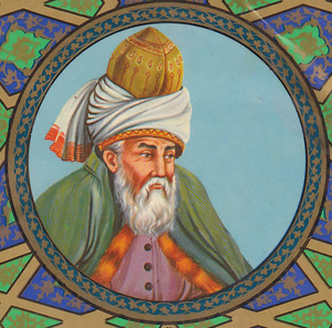 Artistic depiction of Rumi, 1980