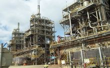 Bresilian Vale's nickel processing plant of Goro in southern New Caledonia.  (2015)