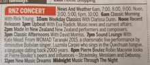 Concert listings in The Dominion Post