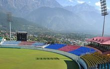 Dharamsala cricket stadium, India.