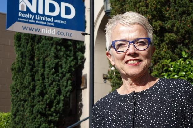 Dunedin real estate agent Liz Nidd. She is also the Otago spokesperson for the Real Estate Institute.