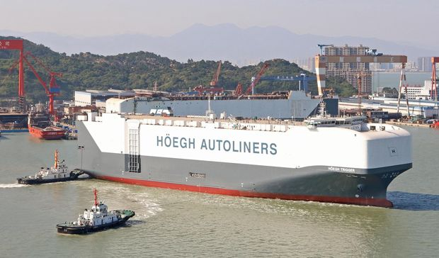 Norway's Hoegh Trigger, the world's largest car carrier.