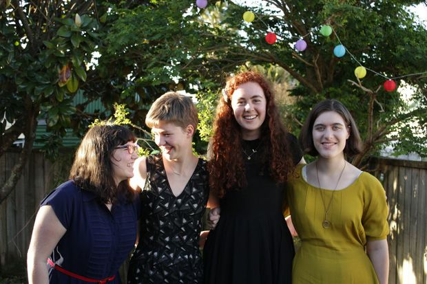 The Candle Wasters: Minnie Grace, Elsie Bollinger, Claris Jacobs, Sally Bollinger