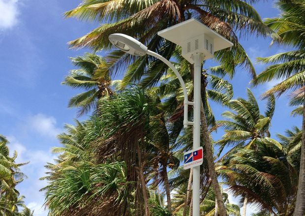 Solar power light in Marshall Islands provided by Taiwan