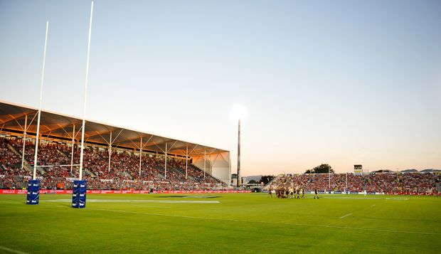 A Super Rugby game at the AMI Stadium in Addington earlier this year - Crusaders vs Chiefs.
