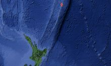 The Kermadec Islands are located about 1000km northeast of the North Island.