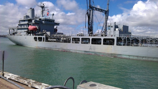 Endeavour docks at Devonport after a four-month exercise.