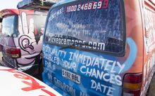 Wicked Campers vans in Australia. Paula Bennett has said she was determined to stop a company from using sexually provocative slogans.