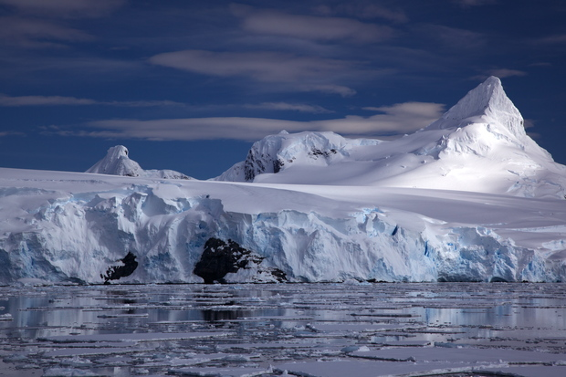Glacier on Antarctic coast
